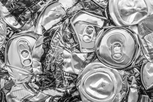 crushed drink cans